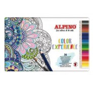 ALPINO COLOR EXPERIENCE LÁPICES DE COLORES ACUARELABLES 177MM SURTIDOS -CAJA METÁLICA DE 36U-