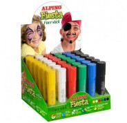 ALPINO MAQUILLAJE EN BARRA FIESTA FACE STICK 6 COLORES EXPOSITOR -36U-