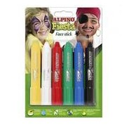 ALPINO MAQUILLAJE EN BARRA FIESTA FACE STICK COLORES BLISTER DE 6