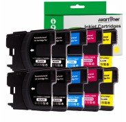 Compatible Pack 10 x Tinta BROTHER LC980 / LC1100 LC-980 / LC-1100