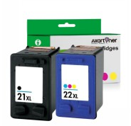 Compatible Pack 2 x HP 21XL NEGRO + HP 22XL TRICOLOR