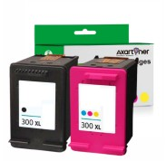 Compatible Pack 2 x Tinta HP 300XL (Negro 1ud. + TRICOLOR 1 ud.) CC641EE / CC644EE