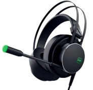 KeepOut HX801 Auriculares Gaming con Microfono Flexible USB 2.0 - Sonido 7.1 - Iluminacion LED Verde - Diadema Ajustable - Altavoces de 50mm - Cable de 2m - Color Negro