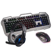 NGS GBX-1500 Pack Gaming Teclado USB + Raton USB 2400dpi - 6 Botones + Auriculares con Microfono